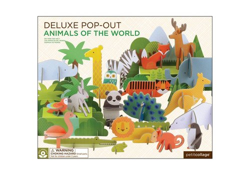 Petit Collage Pop-out - Dierenwereld