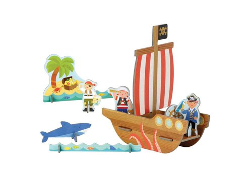 Petit Collage Pop-out - Piratenschip