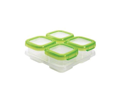 OXOtot Baby Blocks Freezer Storage Containers (4x120ml)  Green
