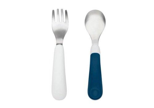 OXOtot Fork & Spoon Set Navy