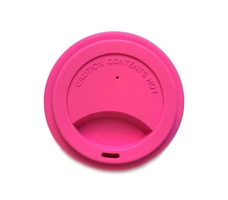 Siliconen deksel voor spoelbeker Pink