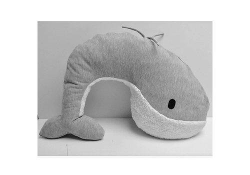 Nanami Voedingskussen walvis Momo grey
