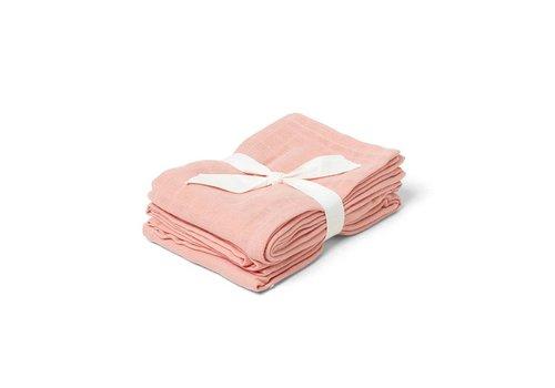 Liewood Tetradoek Hannah 70x70 2st Coral Pink