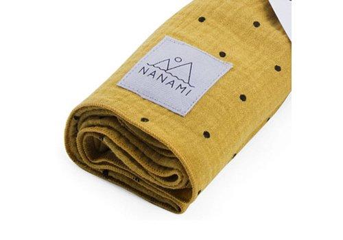 Nanami Swaddle mousseline dot 60x60cm Yellow