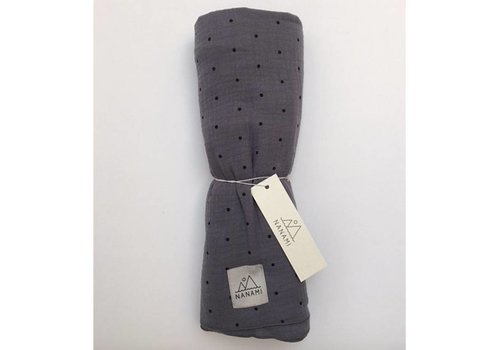 Nanami Swaddle mousseline dot 130x130cm Grey