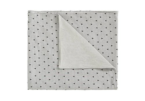Cottonbaby Wiegdeken driehoekjes grijs/zwart