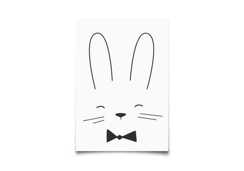 Eef Lillemor Kaartje Monochrome Animals Rabbit