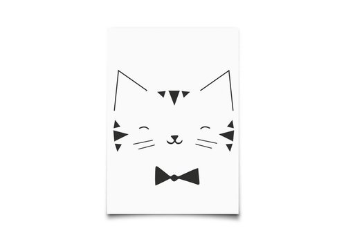 Eef Lillemor Kaartje Monochrome Animals Cat