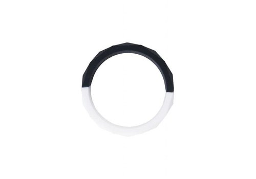 Nibbling Armband Half moon black/white