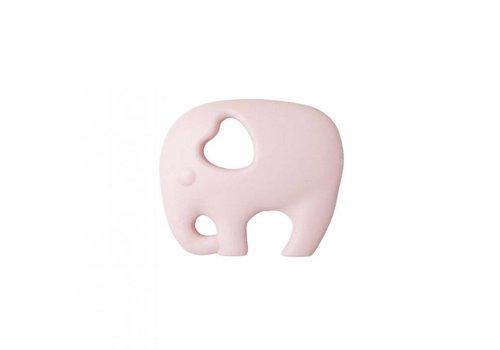 Nibbling Bijtring Elephant baby pink