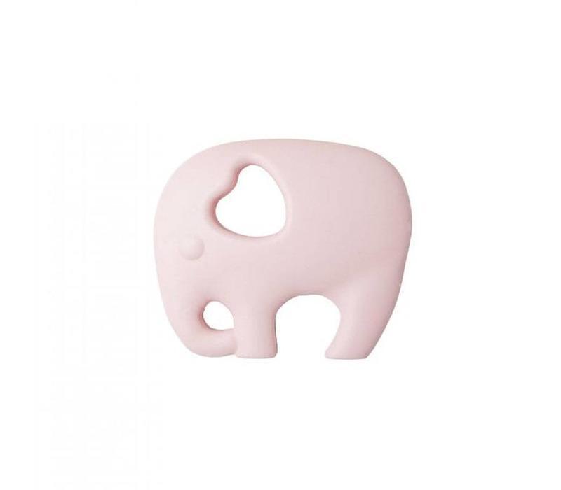 Bijtring Elephant baby pink