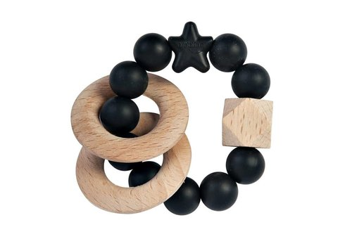 Nibbling Bijtring natural wood black