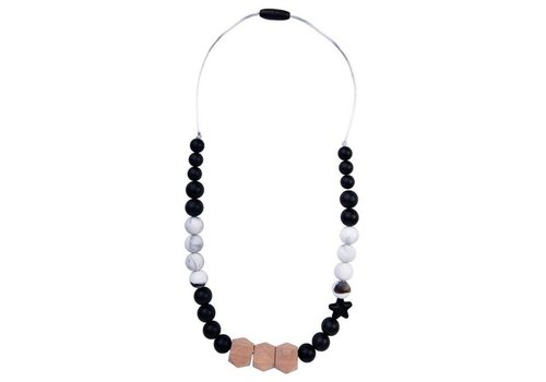 Nibbling Necklace Solar black/marble