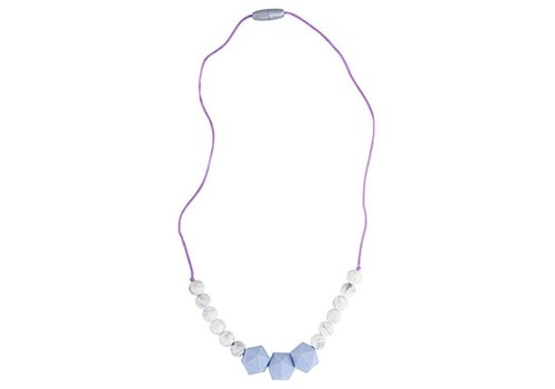 Nibbling Necklace Wetherby lavender/marble