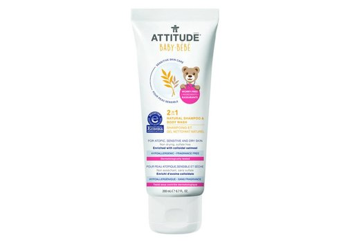 Attitude Sensitive Skin 2-in-1 Shampoo & body wash 200ml