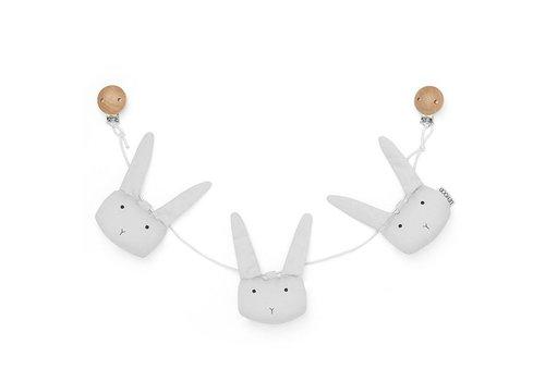 Liewood Holger Pram chain Rabbit dumbo grey