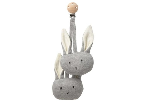 Liewood Rosa Pram toy Rabbit Grey melange