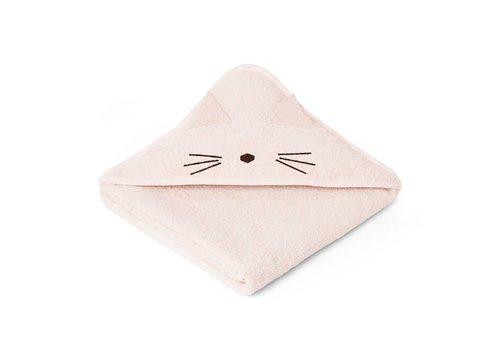 Liewood Towel Augusta 100x100 Cat sweet rose