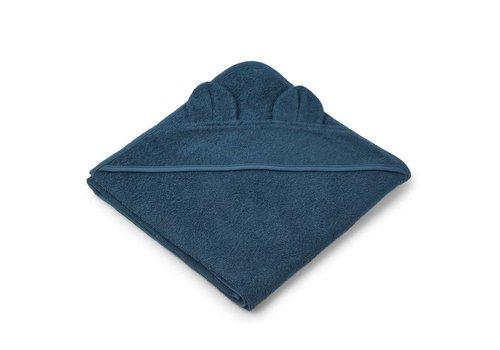 Liewood Towel Augusta 100x100 Mr. Bear Petrol
