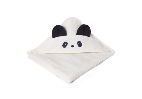 Liewood Handdoek Augusta 100x100 Panda creme de la creme