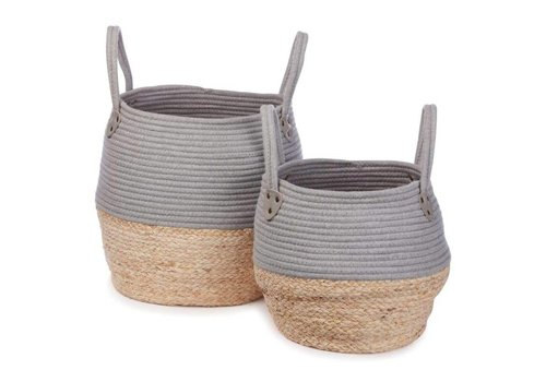KidsDepot Kori basket grey 2 pcs