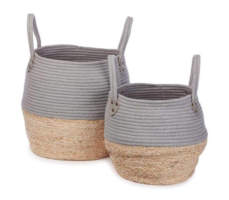 Kori basket grey 2 pcs