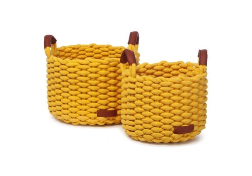 KidsDepot Korbo mand M 2st geel