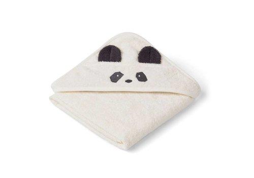 Liewood Hooded baby towel Albert 70x70 Panda Creme de la creme