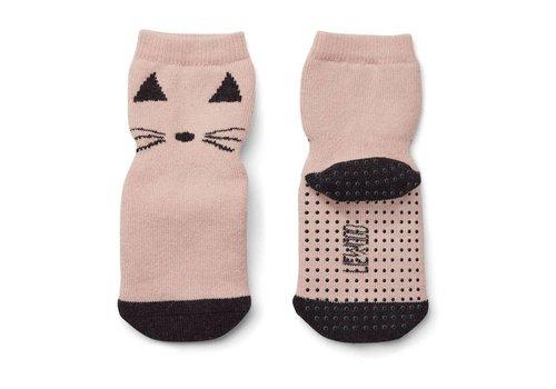Liewood Nellie non-slip socks Cat rose