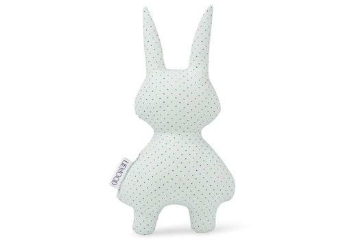 Liewood Marius rattle rabbit Little Dot Dusty Mint