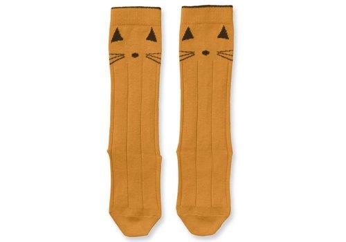 Liewood Sofia knee socks Cat Mustard