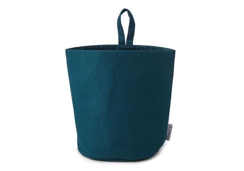 Liewood Ib Fabric basket solid Petrol