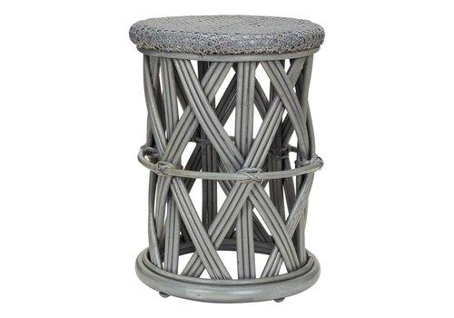 KidsDepot Clu-clu rattan stool Grey