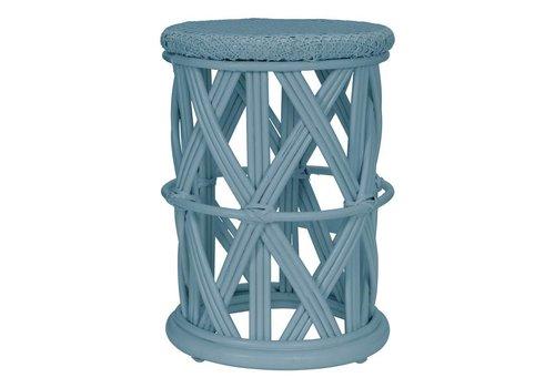 KidsDepot Clu-clu rattan stool Seagreen