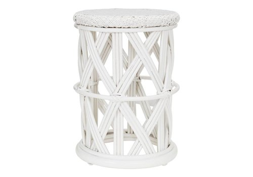 KidsDepot Clu-clu rattan stool White