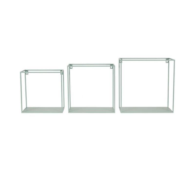 Wallbox set van 3st Seagreen