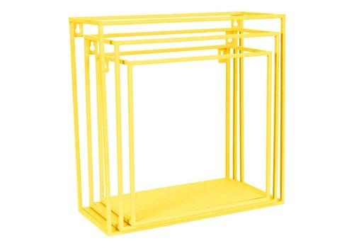 KidsDepot Wallbox set van 3st Yellow