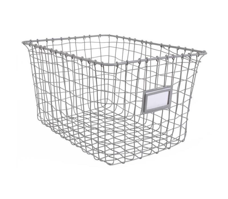 Wire opbergmand set van 3st Grey