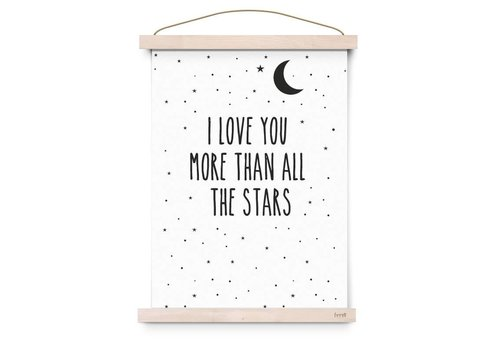 Eef Lillemor Copy of Poster I Love You To The Moon And Back black