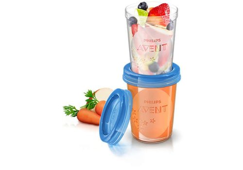Avent VIA Natural Food storage cups 240ml