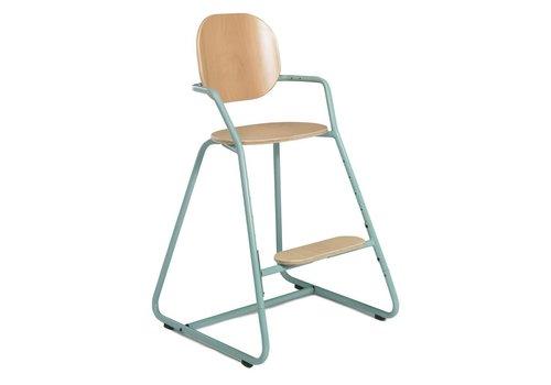 Charlie Crane TIBU High Chair Beech Aruba Blue