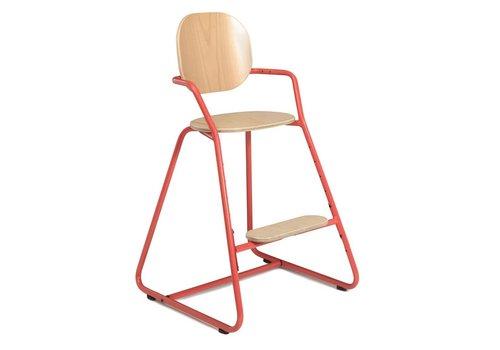 Charlie Crane TIBU High Chair Beech  Bright Red