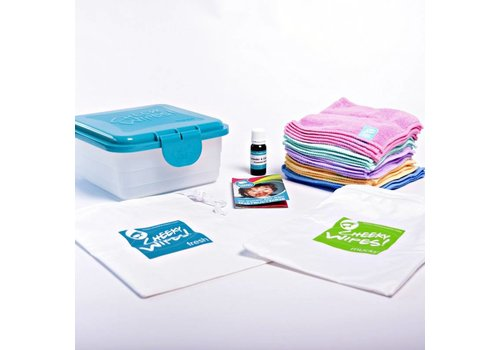 Cheeky Wipes Hands & Faces Kit - rainbow microfibre
