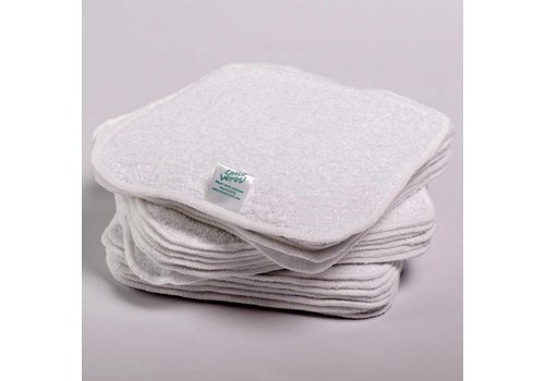 Cheeky Wipes All-in-one Cheeky Wipes kit - white cotton terry