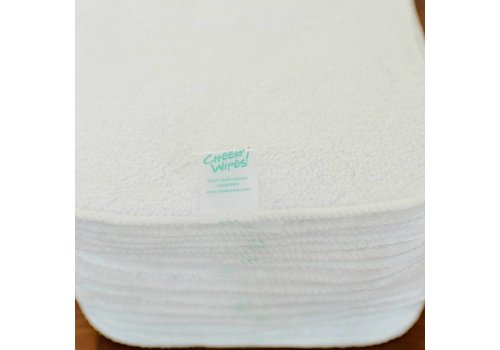 Cheeky Wipes Washable baby wipes organic premium cotton terry 25 pcs white