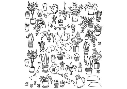 Chispum Inkleur behang Eva Mouton 28x31 Plants