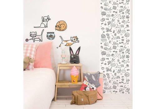 Chispum Inkleur behang Eva Mouton 45x250 Cats