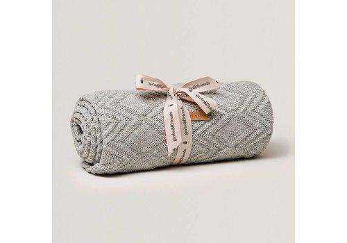 Garbo&Friends Ollie Cotton Blanket 80x120cm Gray
