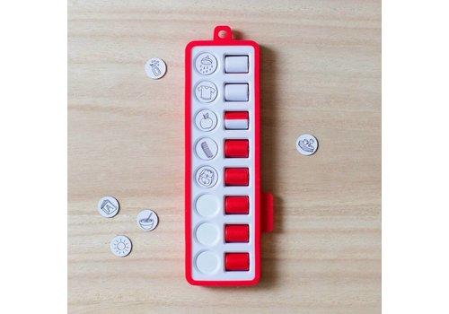 Gezinnig Check pad red