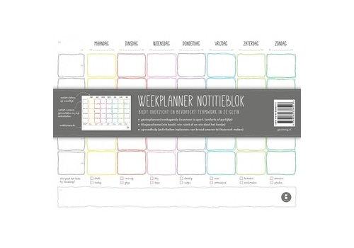 Gezinnig Week planner notebook